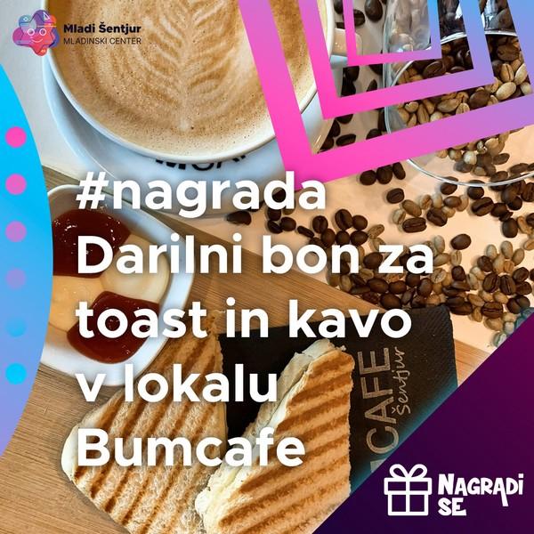 Darilni bon za toast in kavo v lokalu Bumcafe